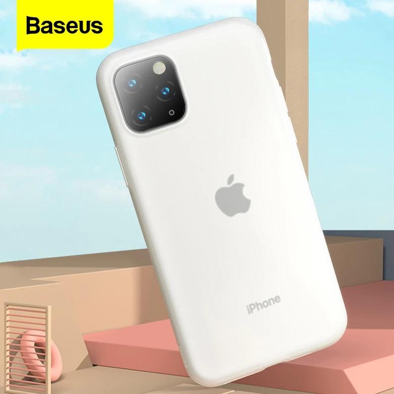Baseus Phone Case For iPhone 11 Pro Max 11Pro Luxury Case Soft Liquid Silicone Back Cover For iPhone11 Case Coque Fundas Capa