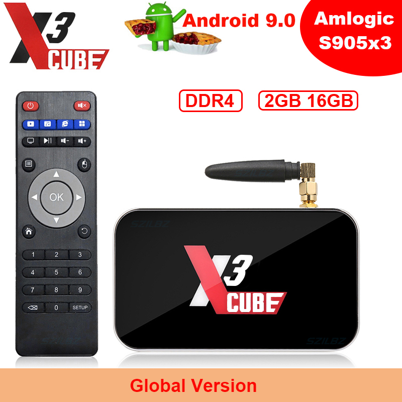 Hot sale X3 CUBE Android 9.0 <font><b>TV</b></font> <font><b>Box</b></font> X3 <font><b>PRO</b></font> Amlogic S905X3 4GB DDR4 32GB <font><b>Smart</b></font> Set top <font><b>box</b></font> 2.4G 5G WiFi Bluetooth 4K Media Player image