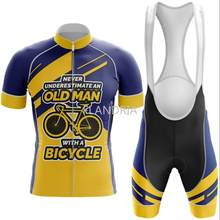2020 Old Man Cycling Jersey Set 여름 자전거 의류 MTB/ Bib 반바지 통기성 젤 패드/Quick dry / Cycling Suit(China)