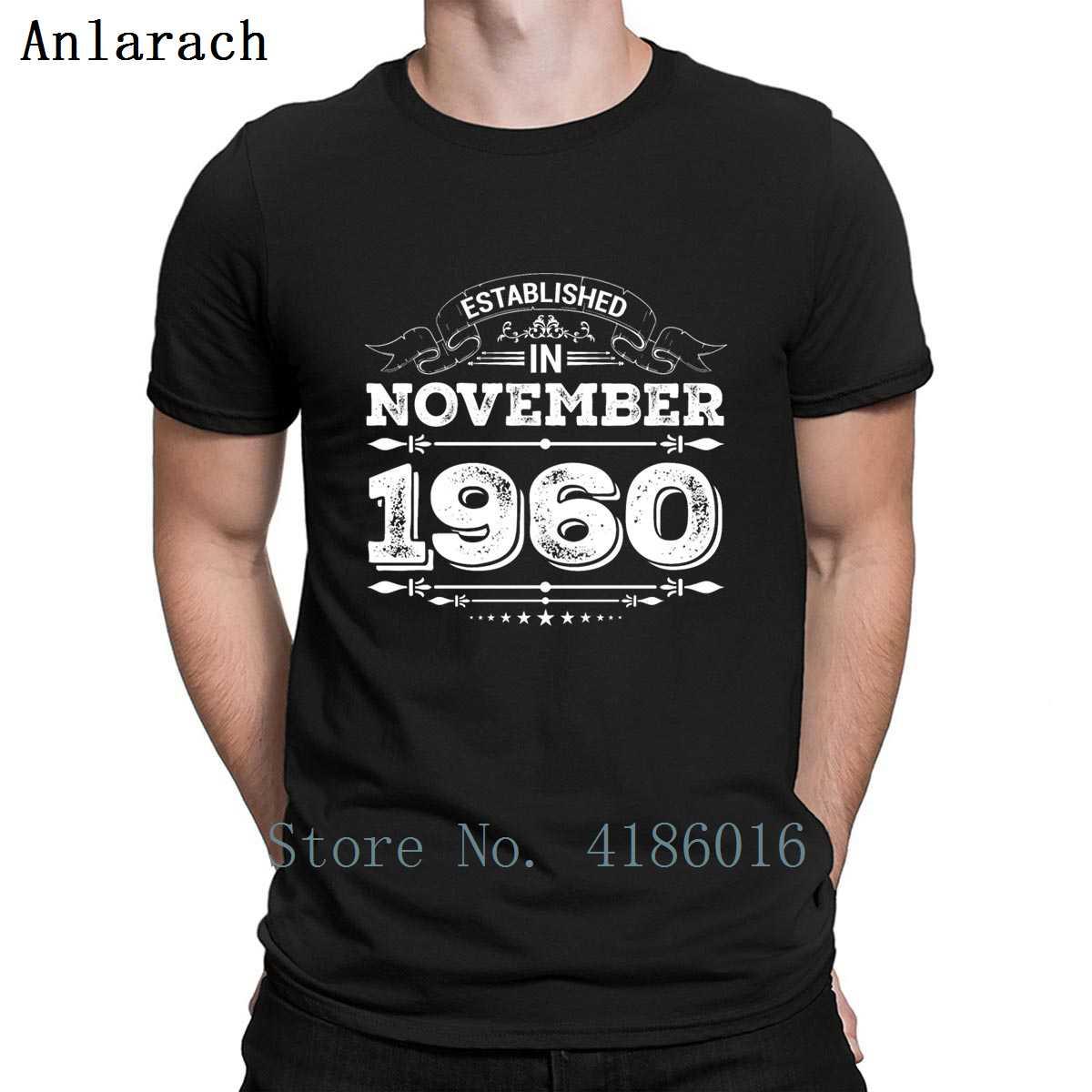 Established In November 1960 T Shirt Spring Autumn Homme Create Crew Neck Humor Loose Slim Cotton Shirt