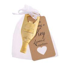10 Uds abrelatas de botella + 100 Uds etiqueta bolsas de la tarjeta Vintage recuerdo de la boda Fiesta de invitados Y98E