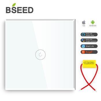BSEED pojedyncza głowica włącznik światła wi-fi 1Gang inteligentny przełącznik bezprzewodowy włącznik Wifi biały czarny złoty kolory praca z Tuya dla rosji tanie i dobre opinie CN (pochodzenie) ROHS CE ROHS Safety Easy Installation Waterproof Fireproof Scratch STOP PRZEŁĄCZNIKI Single Live 1 Gang