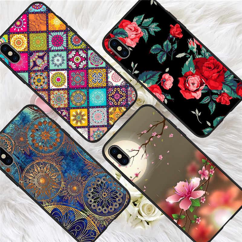 Flower Dreamcatcher For iPhone X XR XS Max 5 5S SE 6 6S 7 8 Plus Oneplus 5T Pro 6T phone Case Cover Coque Etui funda capinha