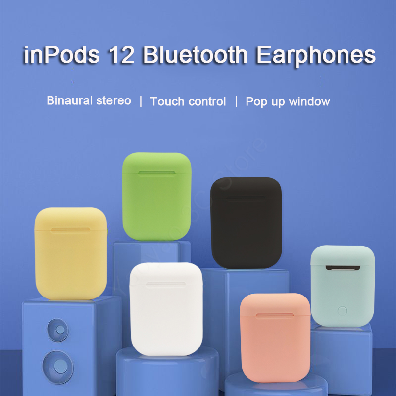 inPods 12 True Wireless Earbuds i12 <font><b>TWS</b></font> Macaron Matte Business Bluetooth Earphone Handfree Headset PK i10 i13 <font><b>i14</b></font> i20 i30 <font><b>TWS</b></font> image