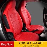 PU Leder Stickerei Auto Sitzbezüge Set Autos Abdeckungen Styling Auto Seat Protector FÜR 2009-2014 Mercedes SMART FORTWO 451 453