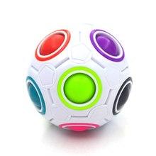 Креативный волшебный Радужный шар, кубик, скоростная головоломка, мяч для детей, обучающий, забавные игрушки для детей, взрослых, снятие стресса