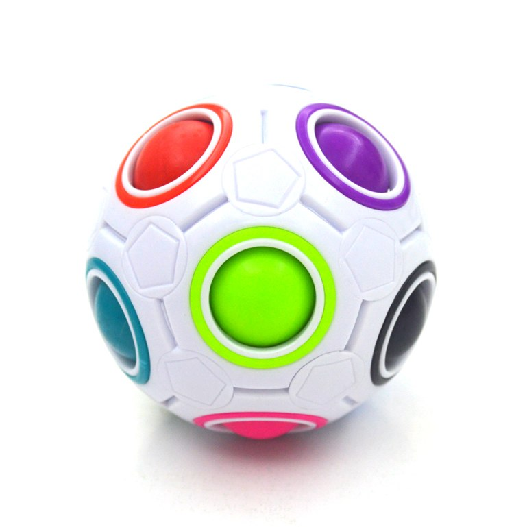 Creative Magic Rainbow Ball Cube Speed Puzzle Ball Kids Educational Learning Funny Toys for Children Adult Stress Reliever(China)