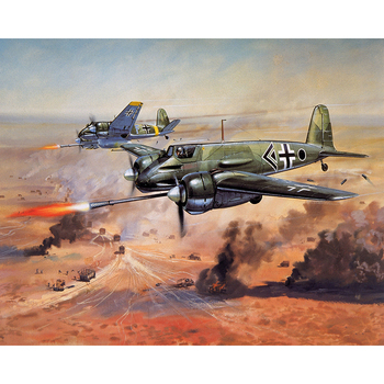 Paint By Numbers Adult Kit Luftwaffe WW2 Henschel Hs 129 Bordkanone 7.5 Tankbuster War
