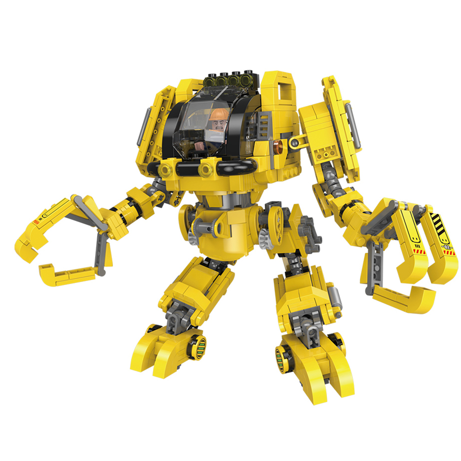 INGBAO <font><b>20001</b></font> 779PCS Age Of Armor Series 2 in 1 Deformation Robot And Engineering Truck Sets Building <font><b>Blocks</b></font> MOC Bricks Gifts image
