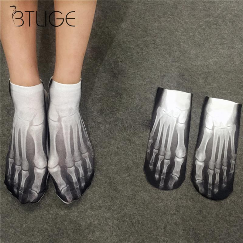 Personality Funny Mens Socks Hip Hop Bones Compression Cotton Socks  Men Fashion