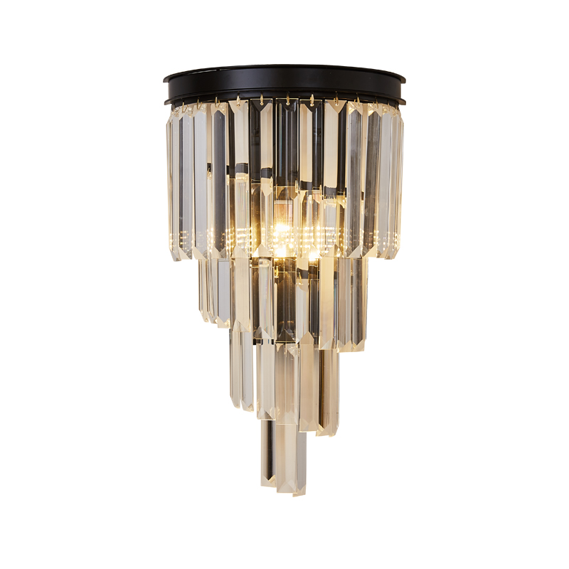 Wall lamp bedroom bedside lamp creative light luxury study living room balcony wall postmodern Nordic contracted crystal light|LED Indoor Wall Lamps| |  - title=
