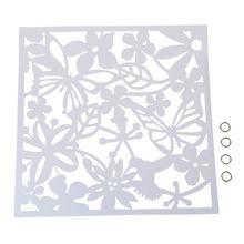 Мода 4 шт. бабочка птица цветок висячие экран перегородка разделительная панель занавес для комнаты домашний декор белый