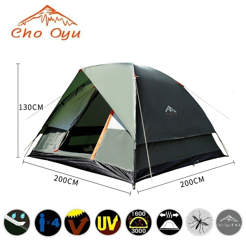 3-4 Person Windbreak Camping Tent Dual Layer Waterproof Pop Up Open Anti UV Tourist Tent For Outdoor Hiking Beach Travel Camping (5).jpg