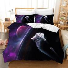 Astronaut Bedding set Duvet Cover Quilt cover Pillowcase warm winter adult bedding 3Pcs for kids festival gift(China)