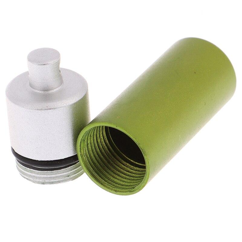 1 шт. Алюминиевый Чехол для таблеток в форме капсулы, водонепроницаемая алюминиевая коробка для таблеток, Открытый Карманный держатель для таблеток, контейнер для деликатных лекарств