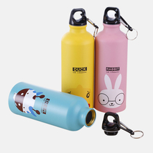 1pcs 500ml Stainless steel Cute Animal Pattern Bicycle Sport
