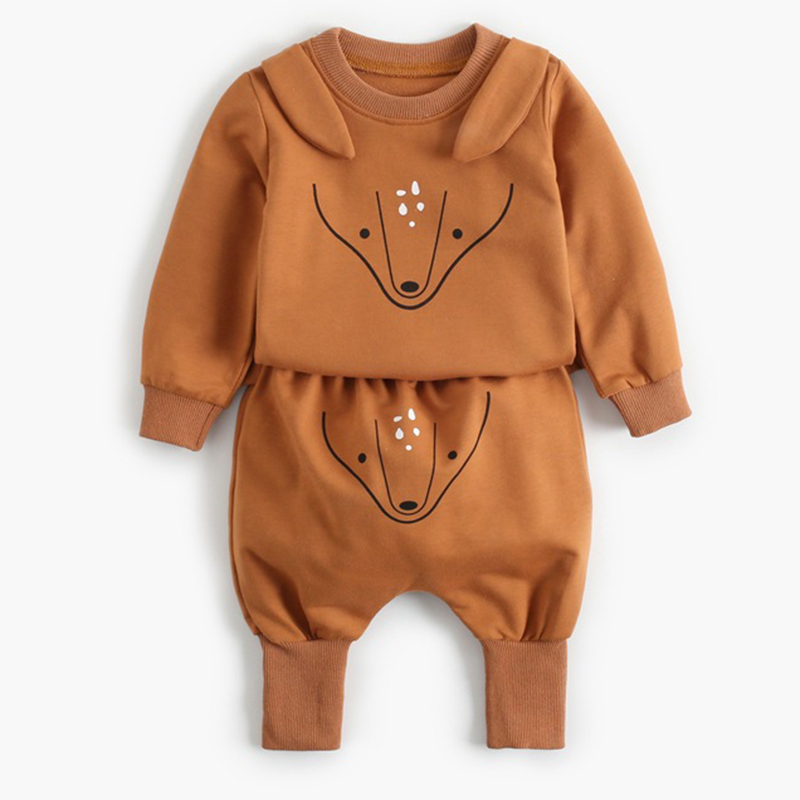 2021 New Newborn Baby Girls Clothes Autumn Baby Boys Clothes Set Kids Costume Infant Baby Clothing Suit Cotton Coat+Pants 4