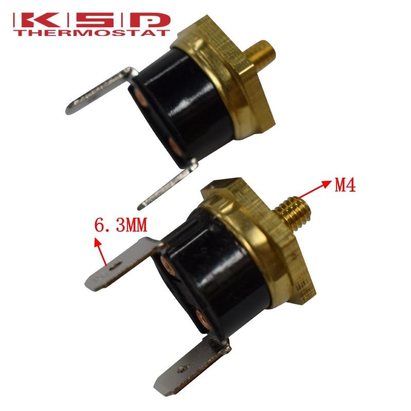 He650d552586845bda7ac6c9351cf1321r - 2PCS KSD301 M4 Copper Screw Bimetal Thermostat Bimetallic Disc Thermostat 40C/50C/65C/70C/75C/80C/90C/100C/120C/130C/150C
