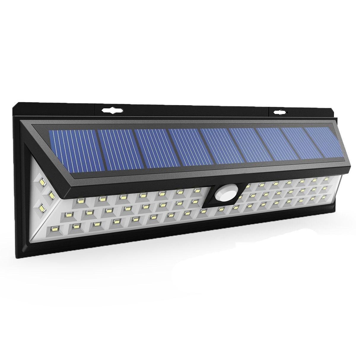 Solar Light 34-118 LED Motion Sensor Outdoor Light IP65 Waterproof Three-sided Solar Garden Light Suitable For Outdoor Lighting