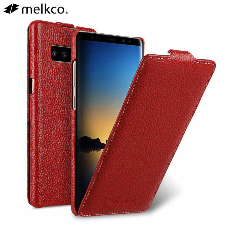 Ouverture verticale Véritable Litchi En Cuir housse de téléphone Pour Samsung Galaxy Note 8 9 Note8 Note9 Peau De Vache D'affaires Pochette Sacs