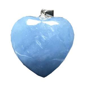 Image 3 - Natürliche Blaue Aquamarin Anhänger Für Frauen Mann Kristall 925 Silber 23x10mm Herz Form Perlen Stein Halskette Anhänger schmuck AAAAA