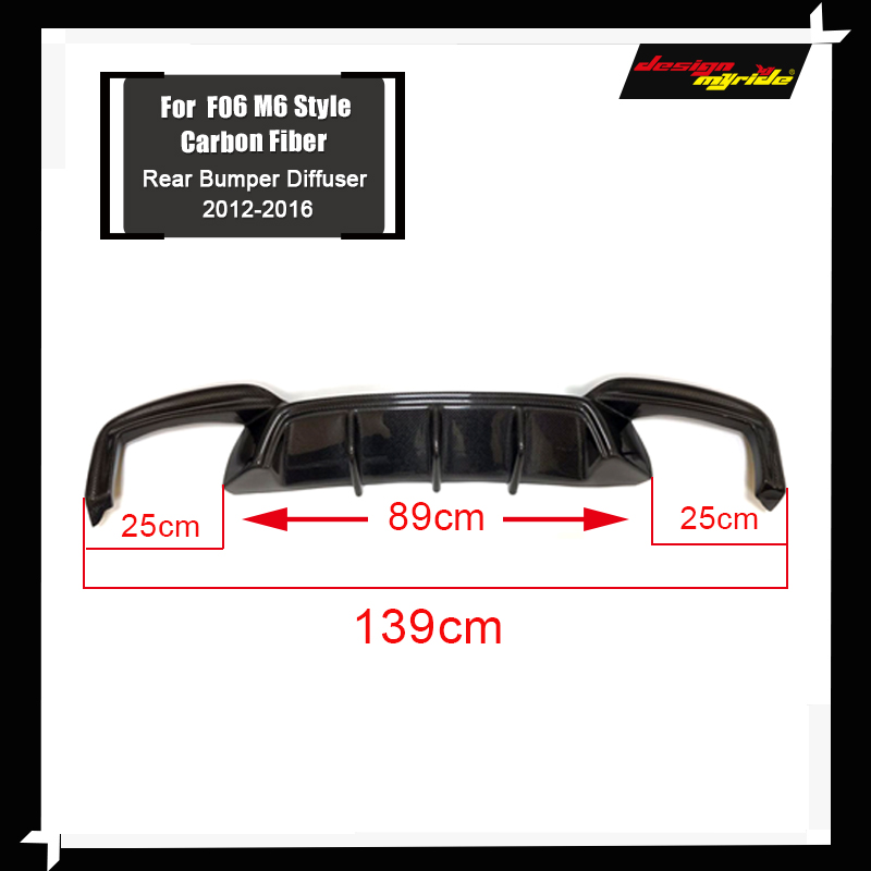 M6 Carbon Fiber Rear Bumper Diffuser Lip For BMW 6 Series F06 F12 F13 M6 2012-16