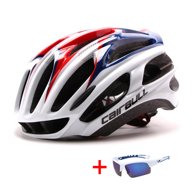 In-mold mountain bike estrada capacete da bicicleta com óculos de sol unisex esportes equitação ciclismo capacete ultraleve xc mtb bicicleta capacete 2