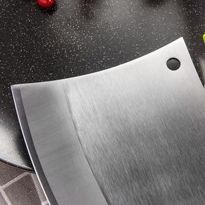Image 2 - Dao Bếp 6.5 Inch Nặng Chặt Xương Dao Bộ Ăn Thịt Dao Cán Gỗ 5CR15 Thép Không Gỉ