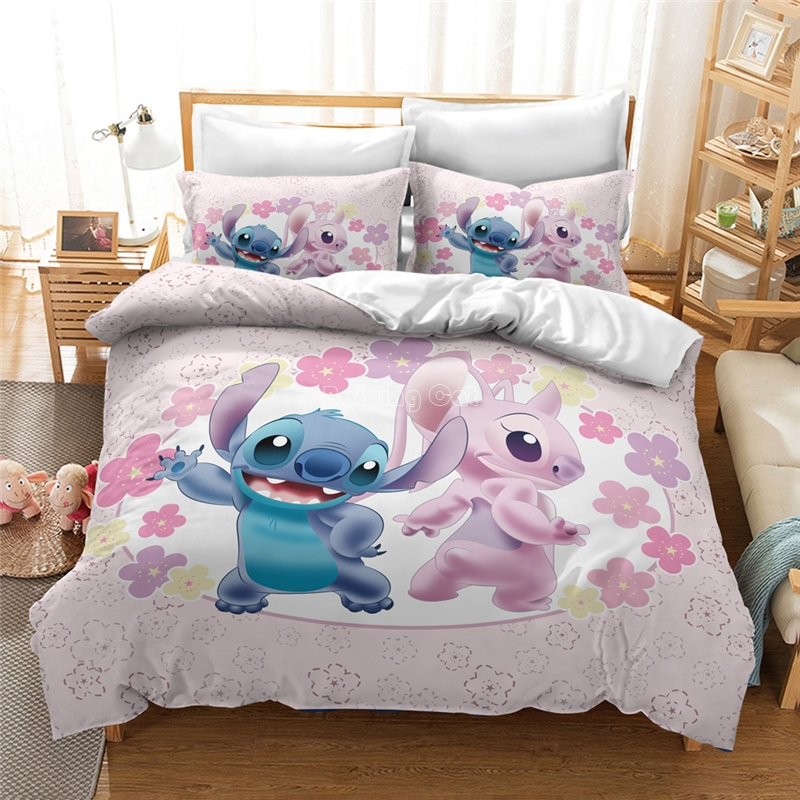 Home Textile 3d Cartoon Stitch Bedding Set Kids Duvet Cover Sets With Pillowcase Bed Linens Bedclothes Twin Full Queen King Size