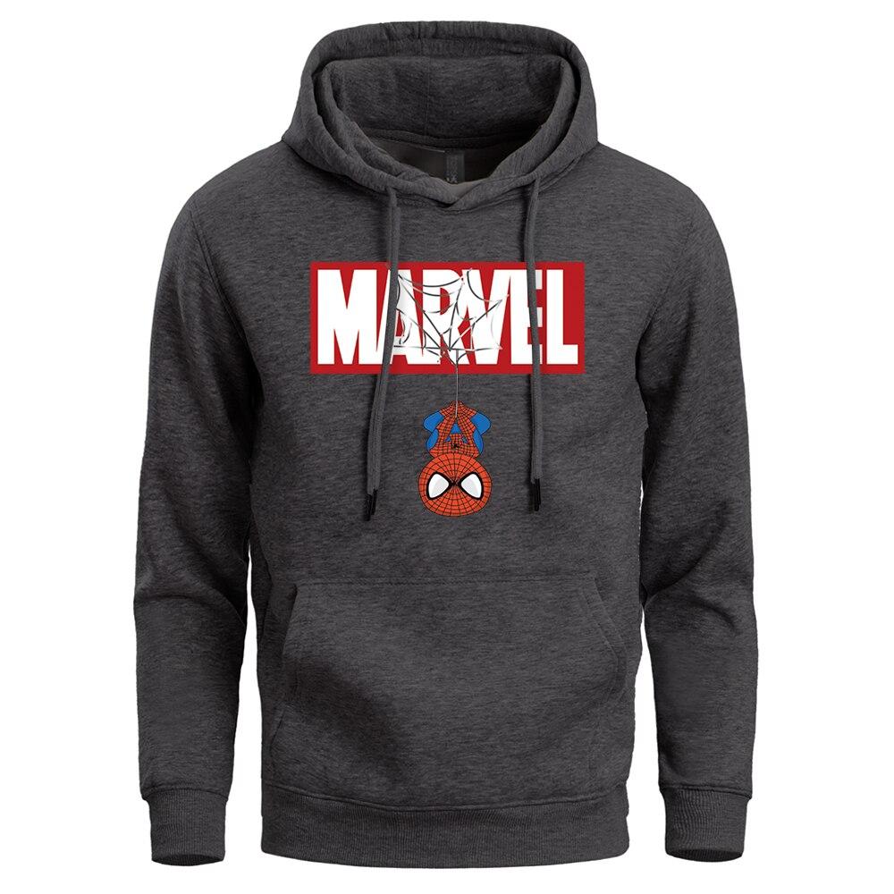 Marvel Superhero Men Funny Hoodie Spider Man Pullover Peter Parker Sweatshirt Super Hero Streetwear Hooded Sportswear Hoody Coat