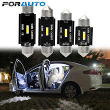 Forauto C10W LED Bulb Memperhiasi License Plate Lampu CSP Chips C5W LED CANBUS DC 12V Mobil Interior Lampu Dome 31 Mm 36 Mm 39 Mm 41 Mm(China)
