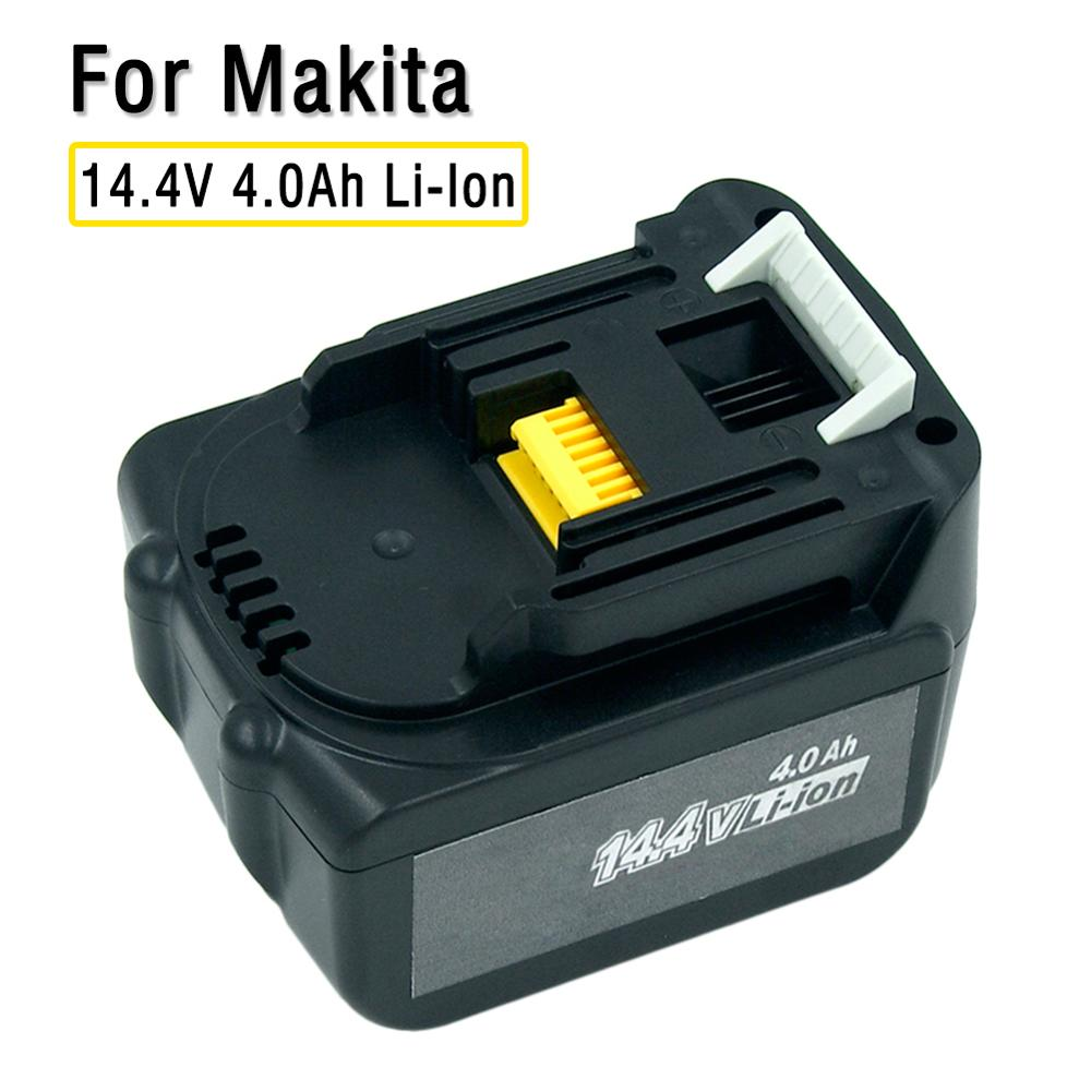 14.4V 4.0Ah 4000mAh Lithium-Ion Replacement Battery For Makita Cordless Tools BL1430 BL1440 194558-0 194559-8 Free Postage
