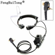 NATO Telescopic Throat Vibration Mic Headset Microphone U94 PTT Cable for Motorola MTP850 MTS850 MTH800 MTP850 MTH650 Radio