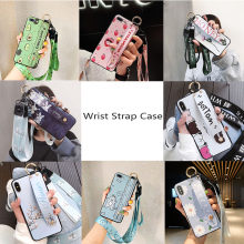 Untuk iPhone 11 Tali Pergelangan Tangan untuk iPhone 11 Pro Max X Max X XR Cover iPhone 7 8 plus 6 Kasus Leher Lanyard Case iPhone 6 S(China)