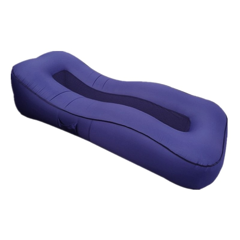 Inflatable Outdoor Lounger Sofa Bed Outside Folding Lazy Air Couch Protable Nylon Breathable Mesh Home Beach Garden Furniture