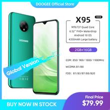 Nowy DOOGEE X95 Android 10 4G-LTE telefony komórkowe 6 52 #8222 wyświetlacz MTK6737 16GB ROM Dual SIM 13MP potrójny aparat 4350mAh bateria tanie tanio Nie odpinany CN (pochodzenie) Rozpoznawania twarzy Do 120 godzin Adaptacyjne szybkie ładowanie Smartfony Pojemnościowy ekran