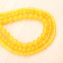 Natural Yellow Agate 4/6/8/10/12mm  Bead Round Bead Spacer Jewelry Bead Loose Beads For Jewelry Making DIY Bracelet