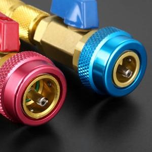 Image 4 - Noyau de Valve de climatisation de voiture R134a dissolvant rapide installateur basse pression réfrigérant fréon kit dadaptateur outil de dissolvant de noyau de Valve