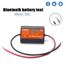 Lancol MICRO 10 جديد C نسخة أداة تشخيص بلوتوث 12 فولت سيارة مراقبة الجهد سيارة اختبار عرض الهاتف