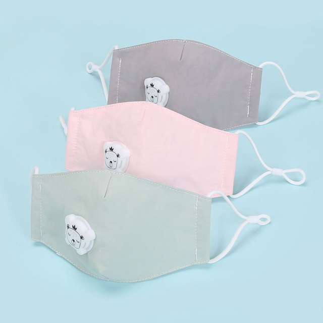 Boy Girl Anti Dust Face Mask Washing Anti PM2.5 Pollution Mask Kid Face Respirator Breathable Valve Masks Filter 3D Mouth Cover 2