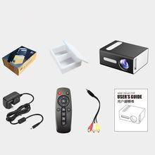 Czarny przenośny projektor T300 wydajny projektor LED o wysokiej rozdzielczości wielozakresowy rzutnik kina domowego