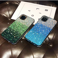 Luxury Shockproof Diamond Soft TPU iPhone Case For iPhone11 11 Pro Glitter Bling Case Armor Back Cover For iPhone XS XS Max(China)
