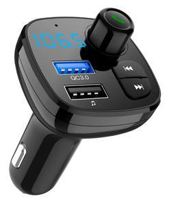Image 2 - Bluetooth 5.0 MP3 çalar Handsfree araç kiti FM verici destek TF kart U disk QC3.012V hızlı çift USB araç
