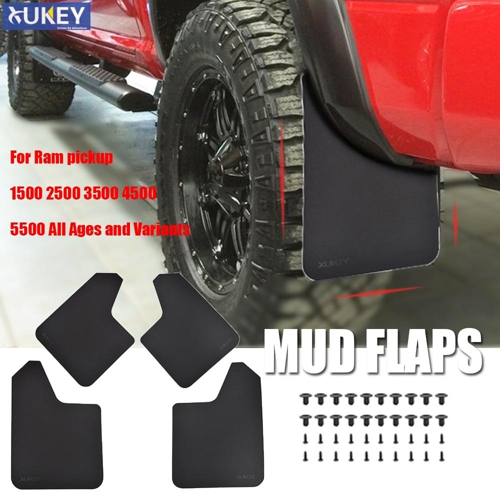 4Pcs Splash Mud Guards Flaps Front Rear Fit Dodge Ram 1500 2500 3500 2009-2016