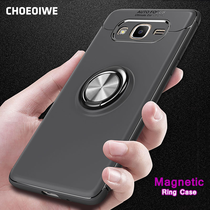 CHOEOIWE Shockproof Armor <font><b>Case</b></font> for <font><b>Samsung</b></font> <font><b>Galaxy</b></font> <font><b>Grand</b></font> <font><b>Prime</b></font> G530 <font><b>G530H</b></font> SM-G531H G531F G531H G530W Magnetic Ring Holder Cover image