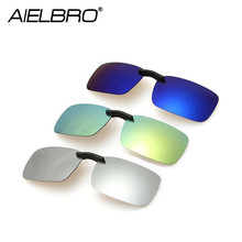 Men Square Clip on Polarized Hiking Fishing Cycling Sunglasses Women Night Driving Glasses Clips for Myopic
