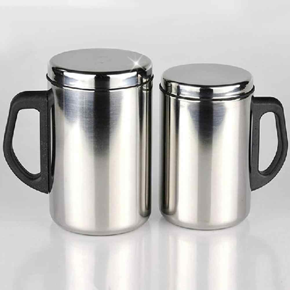 350/500 مللي كوب الفولاذ المقاوم للصدأ أكواب مزدوجة الجدار الحرارية معزول كوب سفريات يحتفظ بدرجة حرارة المشروبات القهوة القدح الماء الساخن البيرة الشاي المنزل درينكوير