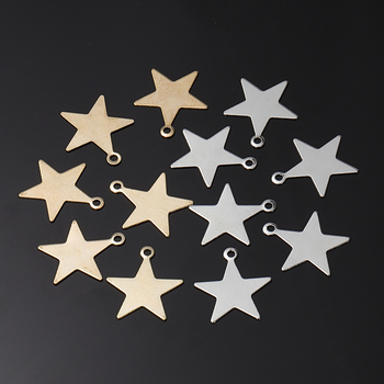 50pcs 6/8/10/13mm Metal KC Gold Tiny Star Charms Small Pendant For Jewelry Making Findings DIY Accessories Supplies Wholesale