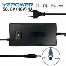YZPOWER cargador de batería de litio inteligente, 58,8 V, 4A, para herramienta eléctrica, Robot, coche eléctrico, batería li on, 48V (51,8 V), 14S