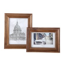 6/7Inch Classic Black Walnut Wood Table Photo Frame Design Photo Frame Freestanding Picture Frame Room Decorations(China)